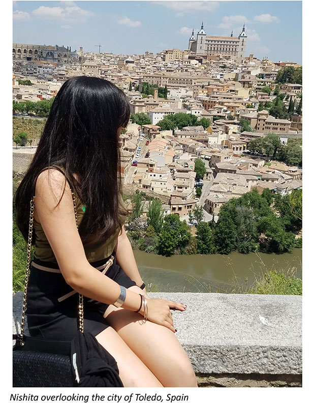 Nishita overlooking city of Toledo, Spain